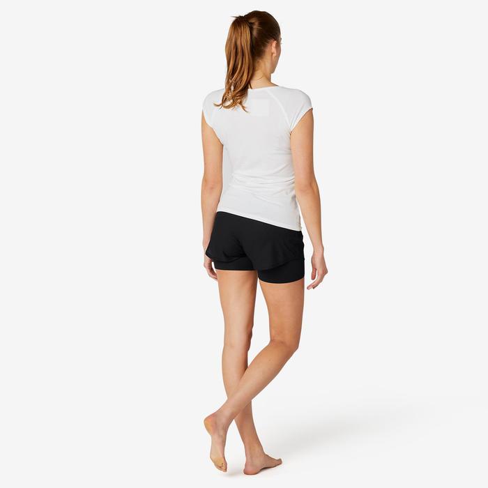 Women's 2-in-1 Pilates & Gentle Gym Sport Shorts 520 - Black