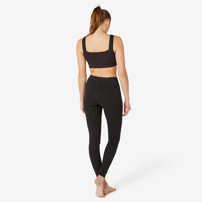 Brassière de Sport en Coton Femme Noir