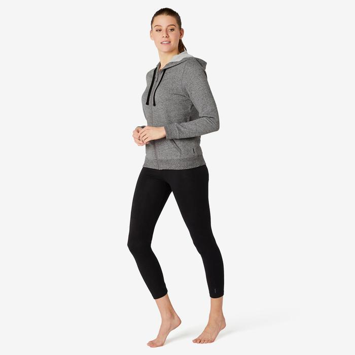 Veste à Capuche Training Femme 500 Gris