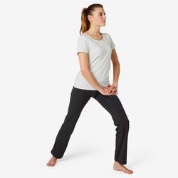 Legging Sport Pilates Gym Douce femme 500 Confort+ Regular Noir