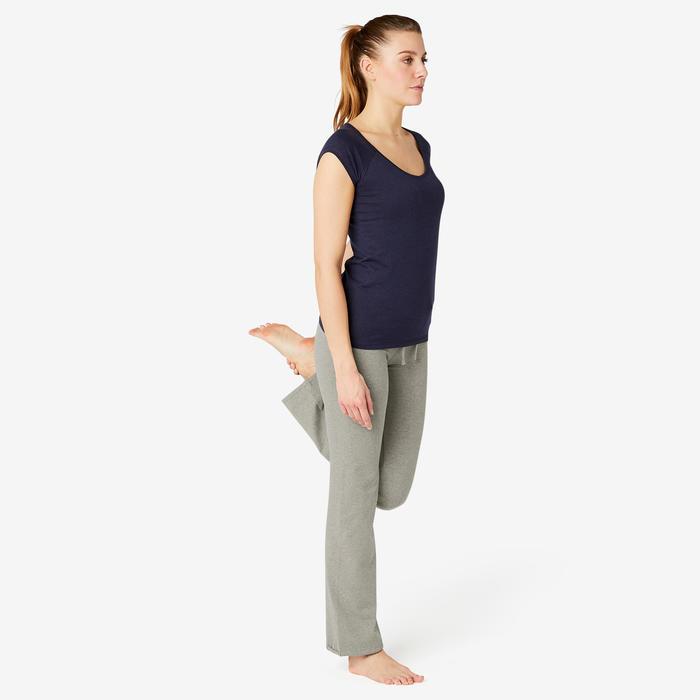 Leggings 500 Comfort+ Regular Gym & Pilates Damen grau meliert