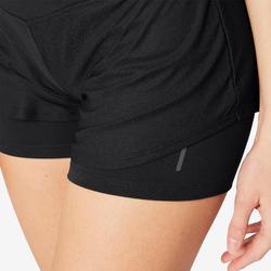 女款2合1短褲520 - 黑色