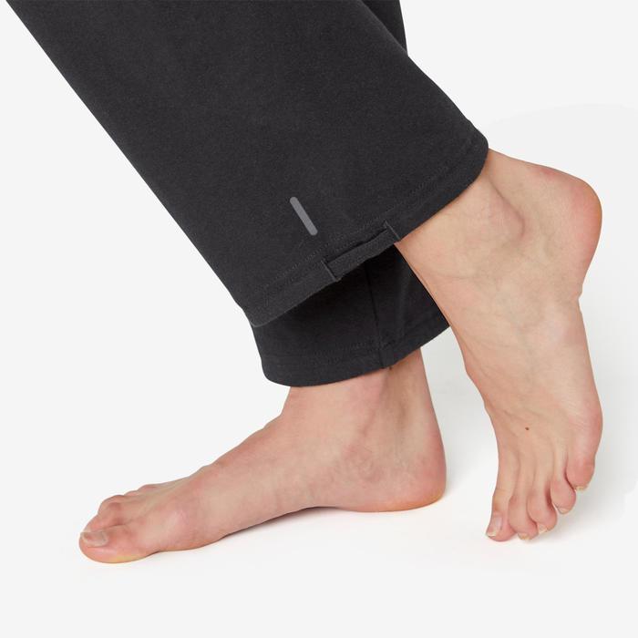 女款標準剪裁皮拉提斯與溫和健身緊身褲Comfort+ 500 - 黑色