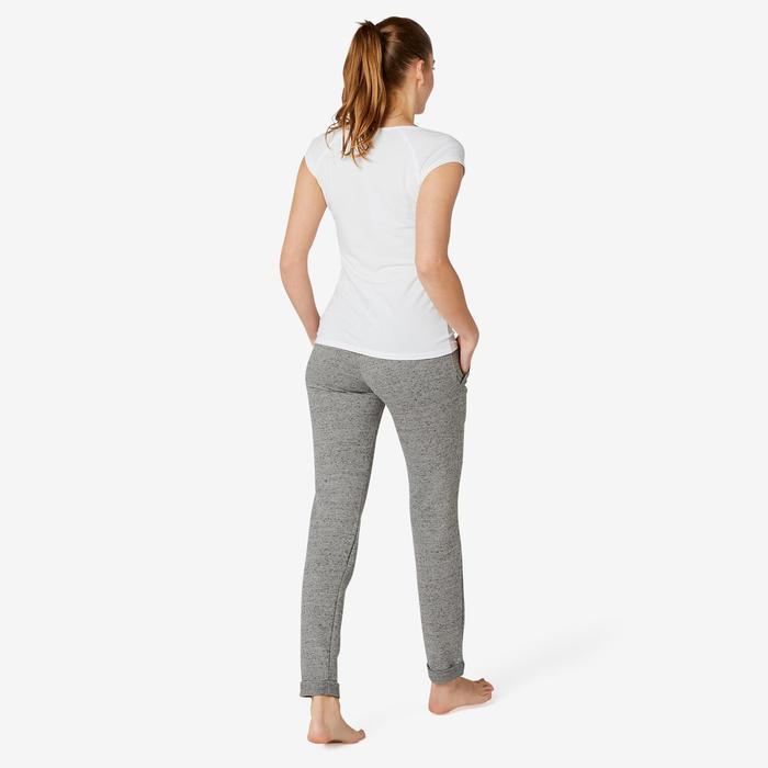 Broek voor work-out dames 500 slim fit grijs