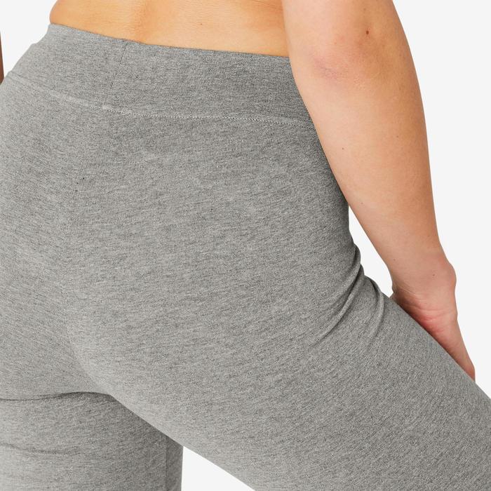 Jogginghose Fit+ 500 Regular Gym & Pilates Damen grau