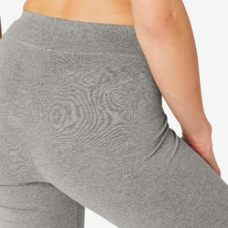 Women's Regular Sports Leggings Fit+ 500 - Grey