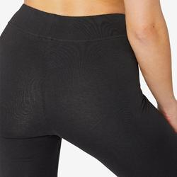 Pantalon de Sport Pilates Gym douce Femme Fit+500 Slim Noir