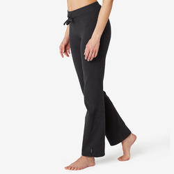 Women's Regular-Fit Pilates & Gentle Gym Sport Leggings Comfort+ 500 - Black