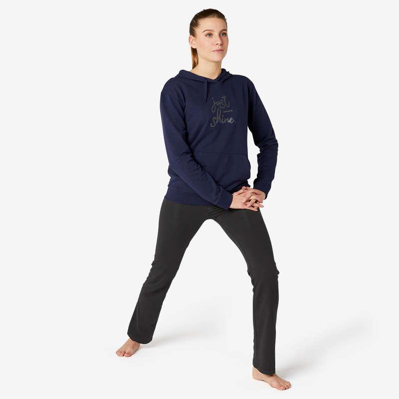 KADIN TİŞÖRT, TAYT, ŞORT Pilates - FIT+ 500 EŞOFMAN ALTI DOMYOS - Kadın Pilates Kıyafetleri