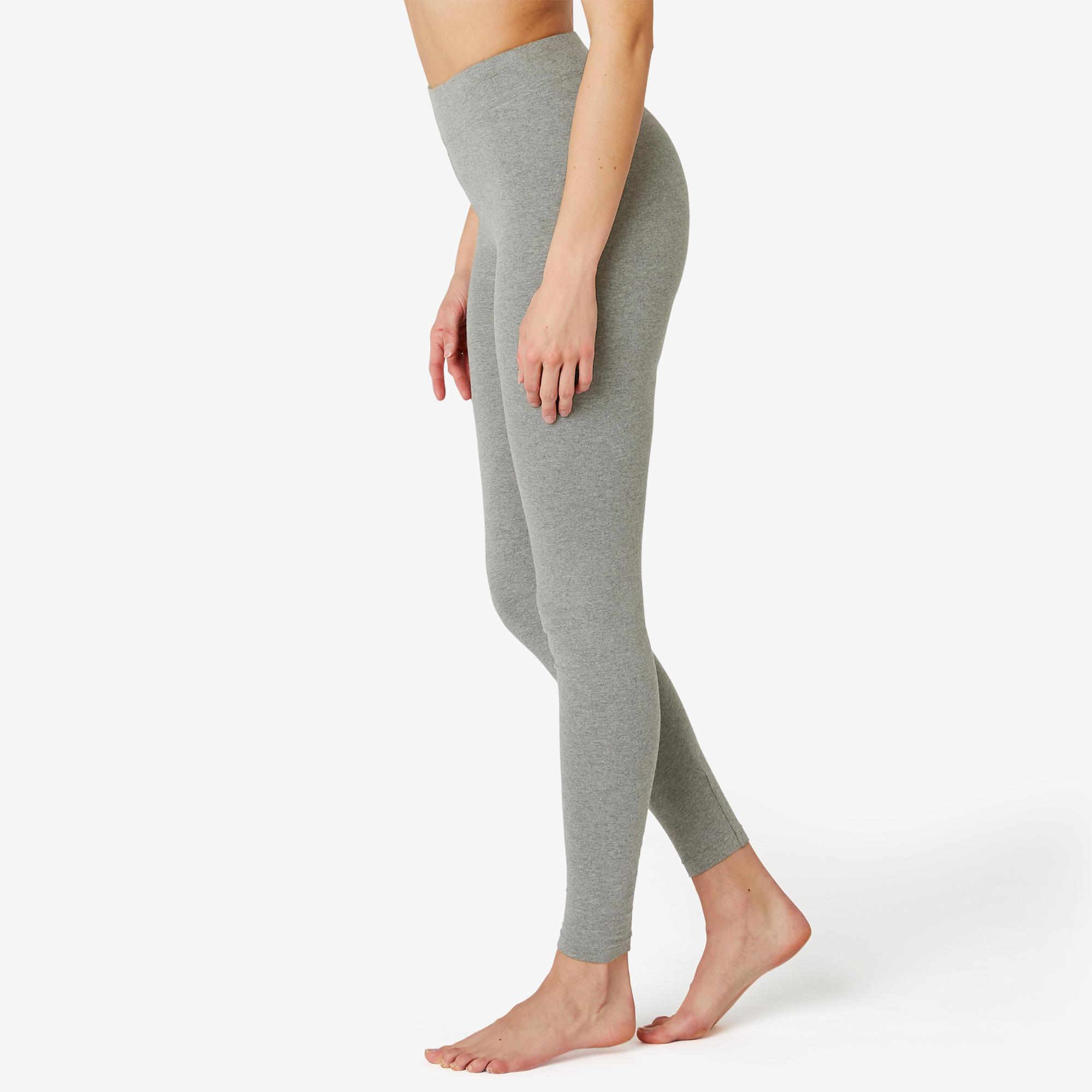 Pantalon de sport pilates gym douce femme fit500 slim gris domyos