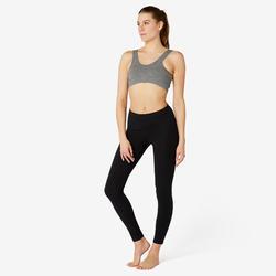 Brassière Coton Sport Pilates Gym Douce Femme Gris