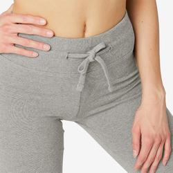 Legging Sport Pilates Gym Douce femme 500 Confort+ Regular Gris Chiné