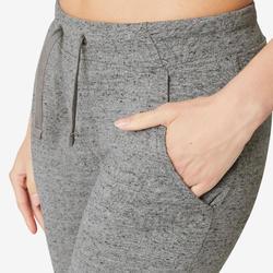 Pantalon de Jogging Slim 500 Femme Gris