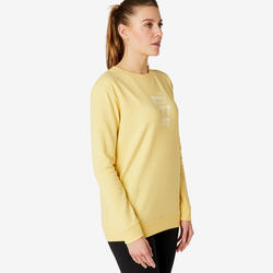 Sweat Training Femme 120 Jaune Imprimé
