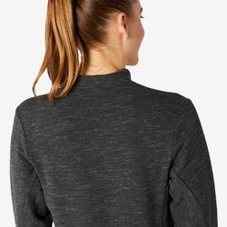 Veste zippée femme Freemove gris chiné