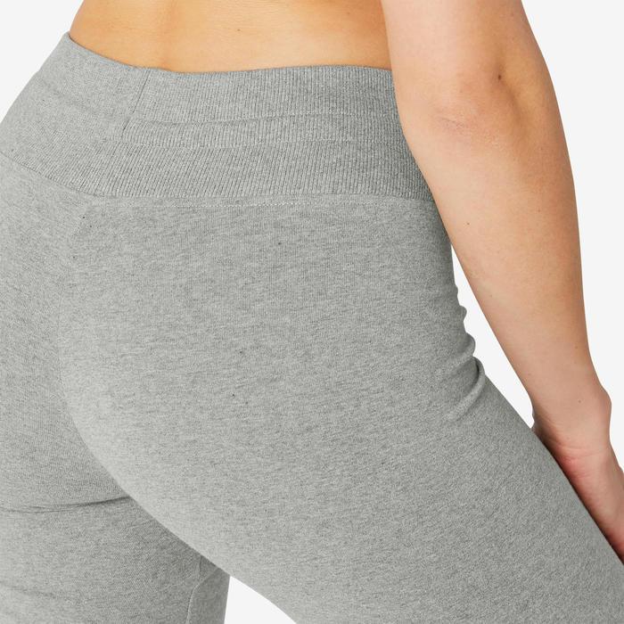 Legging sport taille haute Conf+ 500 femme en coton gris