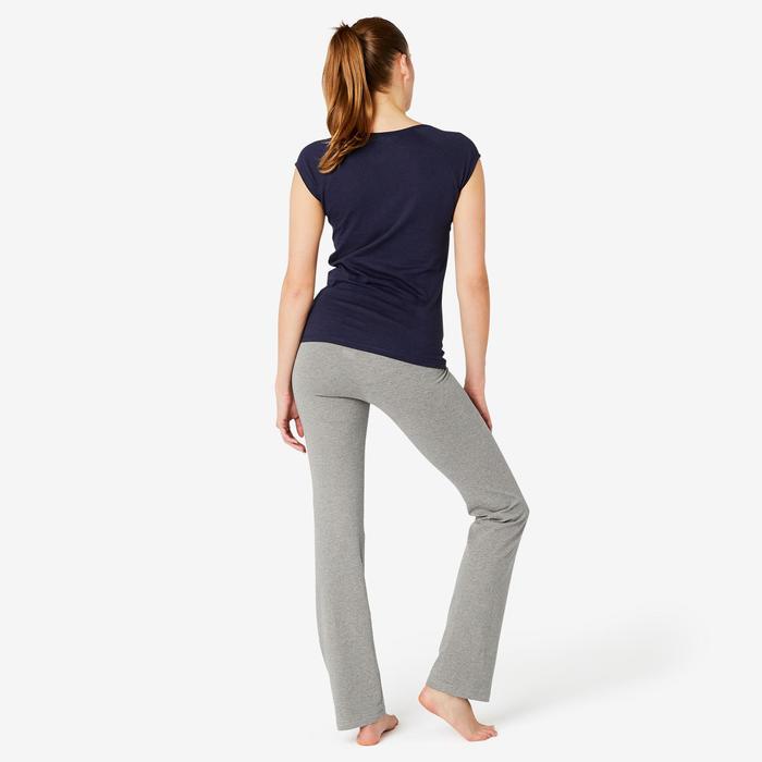 Pantalon Sport Pilates Gym douce Femme Fit+500 Regular Gris