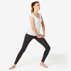 女款健身緊身褲Fit+ 500 - 黑色