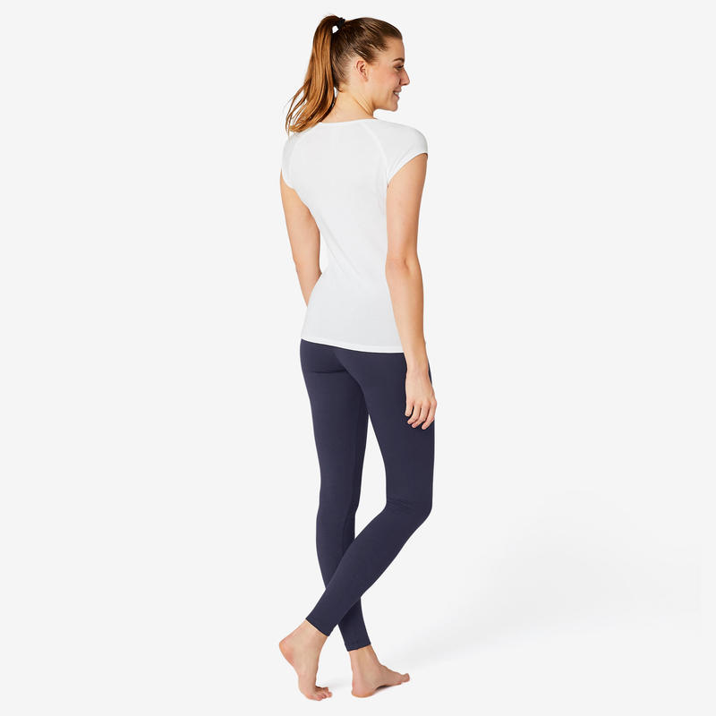 Fitness Cotton Leggings Fit+ - Navy Blue