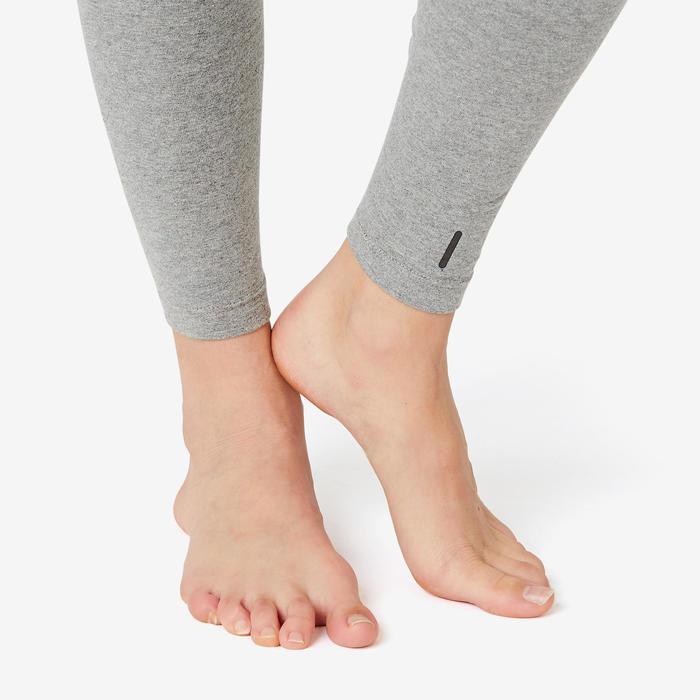 Jogginghose Fit+500 Slim Gym & Pilates Damen grau
