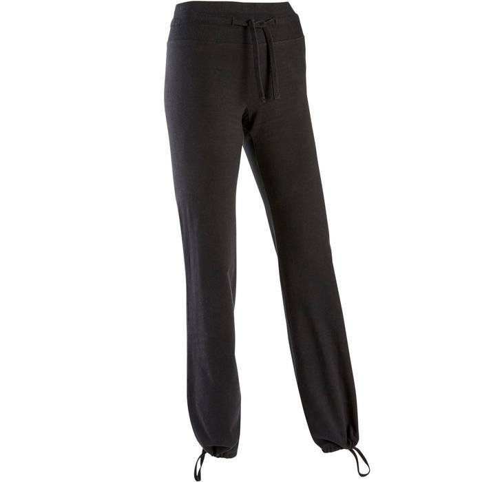 Leggings 500 Comfort+ Regular Gym & Pilates Damen schwarz