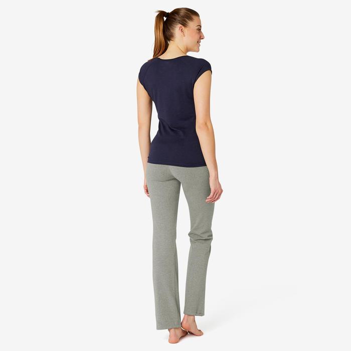 女款標準剪裁皮拉提斯與溫和健身運動緊身褲Comfort+ - 雜灰色