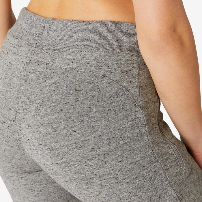 Trainingsbroek dames 510 Slim grijs