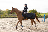 All-weather Horse Riding Exercise Rug For Horse/Pony - Black