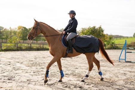 Couvre-reins équitation cheval et poney ALLWEATHER noir