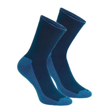 Шкарпетки 100 для туризму, 2 пари – темно-сині