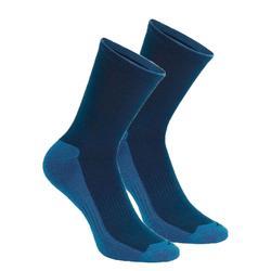 Sokken voor wandelen in de natuur - NH100 high - marineblauw 2 paar