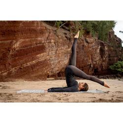 Naadloos shirt met lange mouwen voor zachte yoga grijs