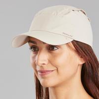 Gorra Trek 900 anti-UV con protección de la nuca desmontable beige