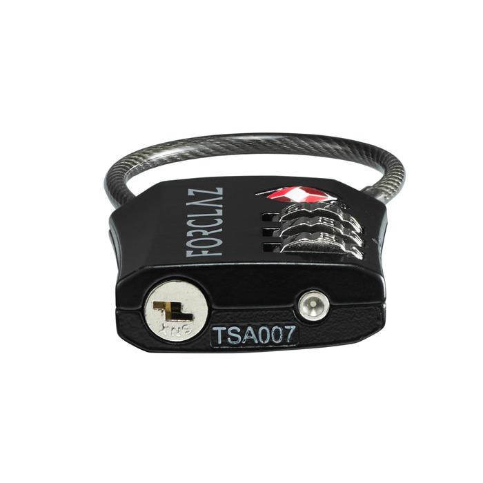 Cadenas câble à code TRAVEL TSA noir