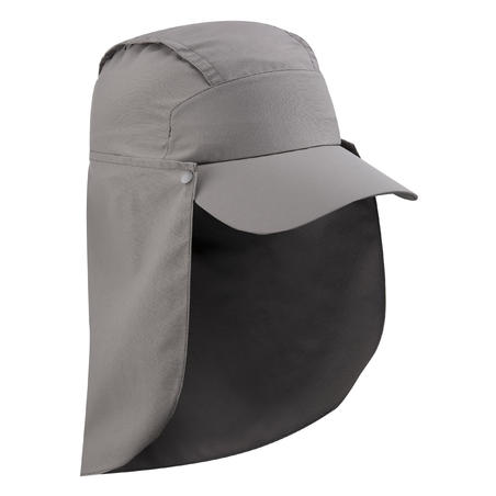 Topi Anti-UV Dengan Pelindung Leher Yang Dapat Dilepas Trek 900 - Abu-abu