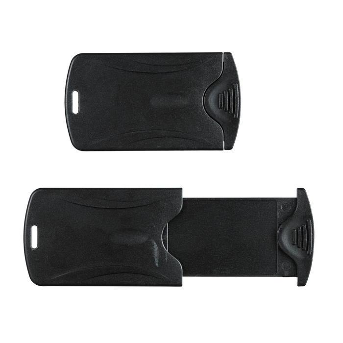 Lot de 2 porte-étiquettes de bagage TRAVEL noir