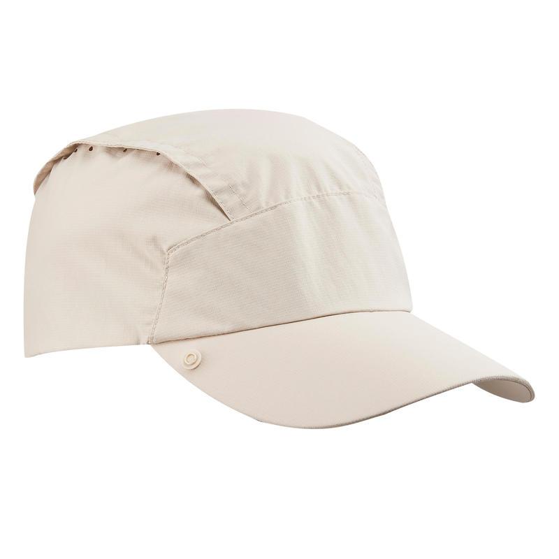 หมวกกันรังสียูวีพร้อมผ้าปิดคอแบบถอดออกได้รุ่น Trek 900 (สีเบจ)