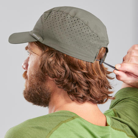 Mountain Trekking Cap, Ventilated and Ultra Compact - TREK 500 Khaki
