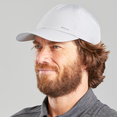 Travel Trekking Cap | TRAVEL 100 - Light Grey