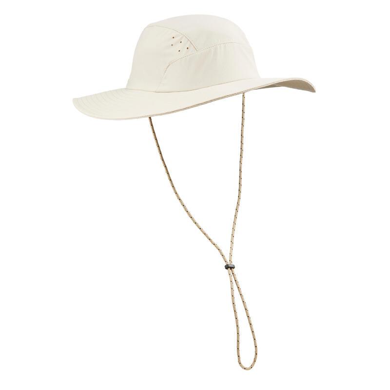 Chapeau de trekking montagne anti-UV - TREK 500 beige clair homme