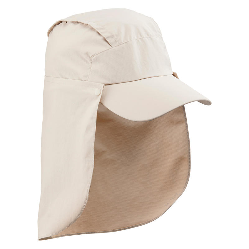 Topi Trek 900 Anti UV dengan Pelindung Leher yang Dapat Dilepas - Beige