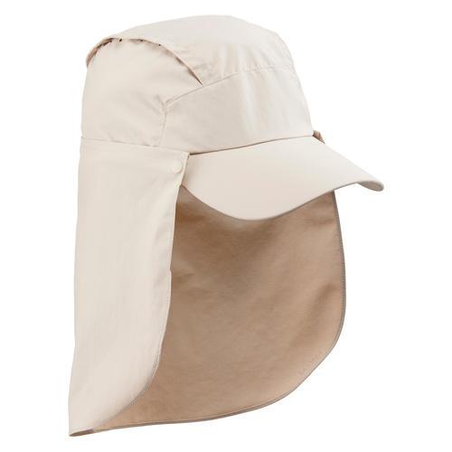 Casquette Trek 900 anti-UV avec protection nuque amovible Beige
