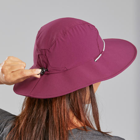 Trek 500 Mountain Trekking Anti-UV Hat Purple - Women's