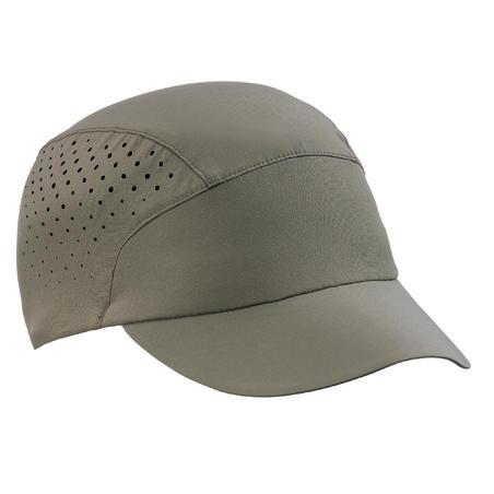 Gorra de trekking montaña ventilada y ultracompacta - TREK 500 caqui