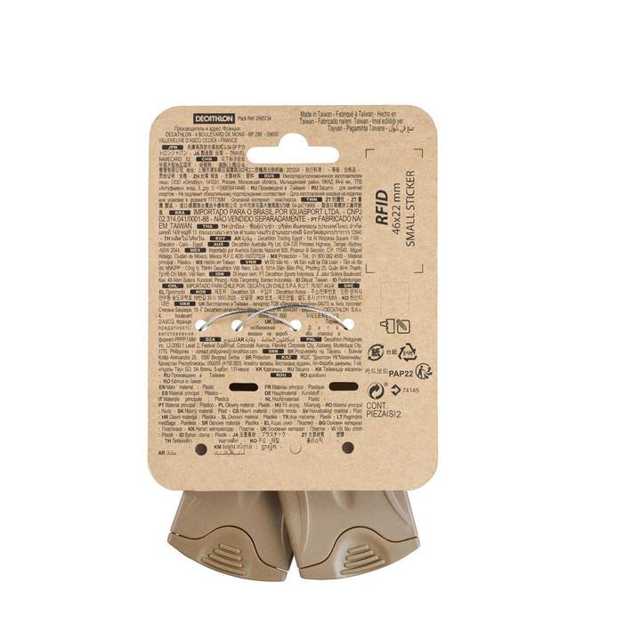 Set van 2 labelhouders voor trekking - bruin