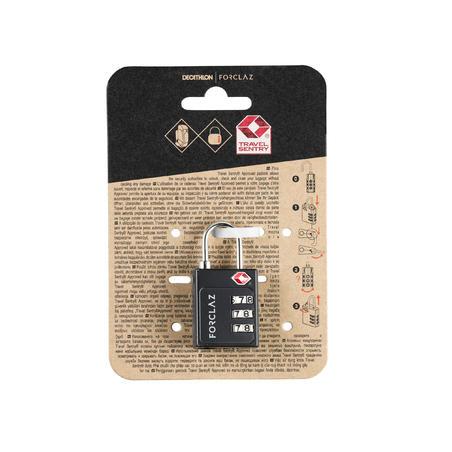 TSA trekking code padlock - black