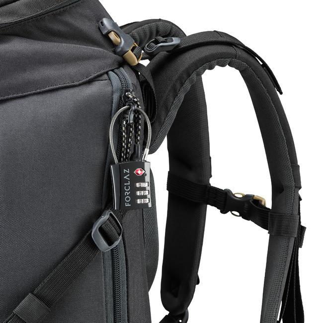 TSA code padlock travelling trek cable - black