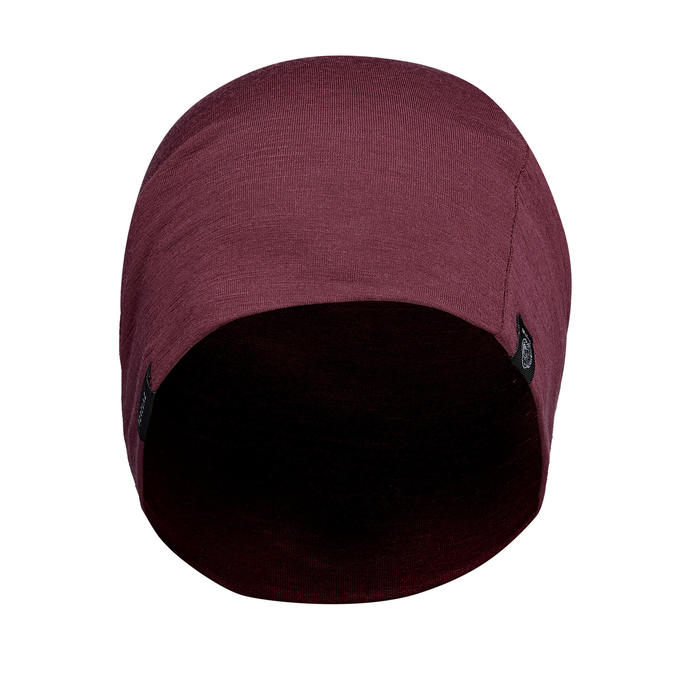 Bonnet de Trekking Montagne laine mérinos - TREK 500 bordeaux