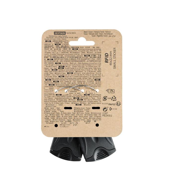 Set van 2 labelhouders voor trekking - zwart
