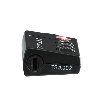 Cadenas à code de trekking voyage TRAVEL TSA noir